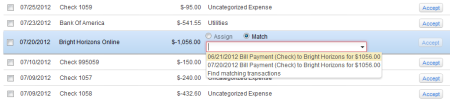 Multiple Matches in Downloaded Transactions